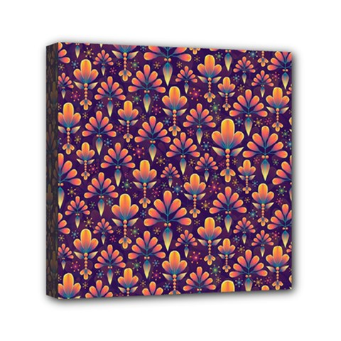 Abstract Background Floral Pattern Mini Canvas 6  X 6
