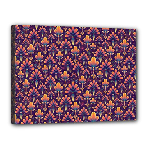 Abstract Background Floral Pattern Canvas 16  X 12
