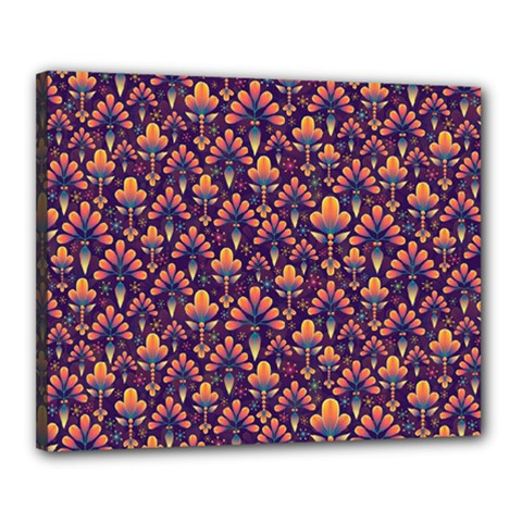 Abstract Background Floral Pattern Canvas 20  X 16