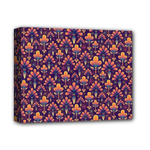 Abstract Background Floral Pattern Deluxe Canvas 14  X 11
