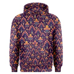 Abstract Background Floral Pattern Men s Pullover Hoodie