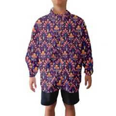 Abstract Background Floral Pattern Wind Breaker (kids)