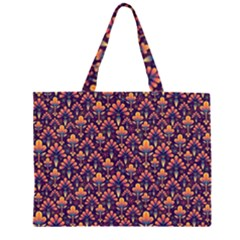 Abstract Background Floral Pattern Large Tote Bag