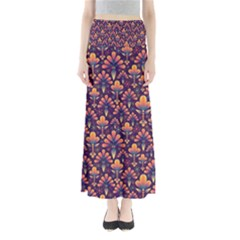 Abstract Background Floral Pattern Maxi Skirts
