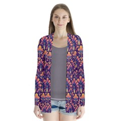 Abstract Background Floral Pattern Cardigans