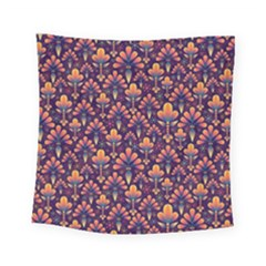 Abstract Background Floral Pattern Square Tapestry (small)