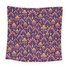 Abstract Background Floral Pattern Square Tapestry (large)