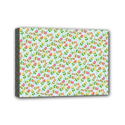 Flowers Roses Floral Flowery Mini Canvas 7  X 5