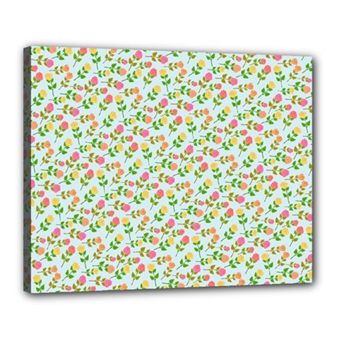 Flowers Roses Floral Flowery Canvas 20  x 16