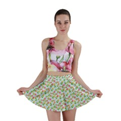 Flowers Roses Floral Flowery Mini Skirt