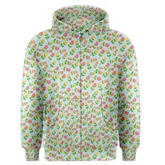 Flowers Roses Floral Flowery Men s Zipper Hoodie