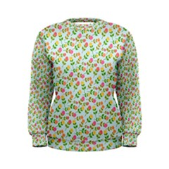 Flowers Roses Floral Flowery Women s Sweatshirt