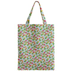 Flowers Roses Floral Flowery Zipper Classic Tote Bag