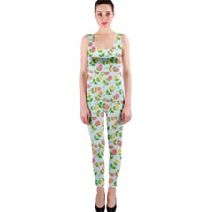 Flowers Roses Floral Flowery OnePiece Catsuit