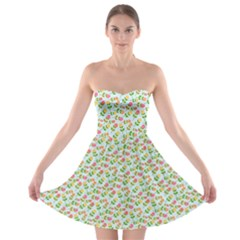 Flowers Roses Floral Flowery Strapless Bra Top Dress