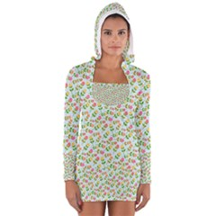 Flowers Roses Floral Flowery Women s Long Sleeve Hooded T-shirt