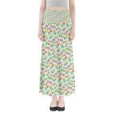 Flowers Roses Floral Flowery Maxi Skirts