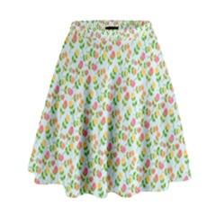 Flowers Roses Floral Flowery High Waist Skirt