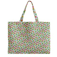 Flowers Roses Floral Flowery Medium Tote Bag