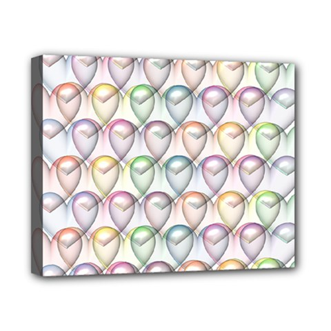 Valentine Hearts 3d Valentine S Day Canvas 10  x 8