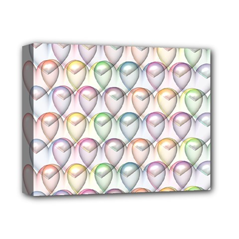 Valentine Hearts 3d Valentine S Day Deluxe Canvas 14  X 11