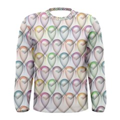 Valentine Hearts 3d Valentine S Day Men s Long Sleeve Tee
