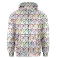 Valentine Hearts 3d Valentine S Day Men s Zipper Hoodie