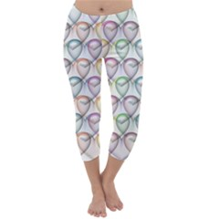 Valentine Hearts 3d Valentine S Day Capri Winter Leggings