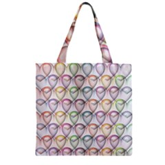 Valentine Hearts 3d Valentine S Day Zipper Grocery Tote Bag