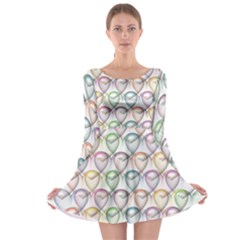 Valentine Hearts 3d Valentine S Day Long Sleeve Skater Dress