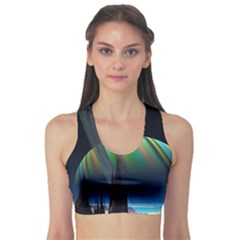 Planets In Space Stars Sports Bra