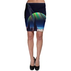 Planets In Space Stars Bodycon Skirt