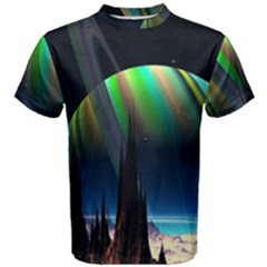 Planets In Space Stars Men s Cotton Tee