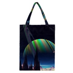 Planets In Space Stars Classic Tote Bag