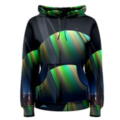 Planets In Space Stars Women s Pullover Hoodie
