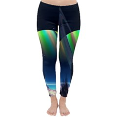 Planets In Space Stars Classic Winter Leggings