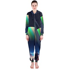 Planets In Space Stars Hooded Jumpsuit (Ladies)