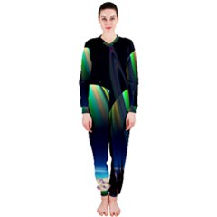 Planets In Space Stars Onepiece Jumpsuit (ladies)