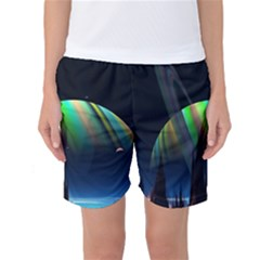 Planets In Space Stars Women s Basketball Shorts