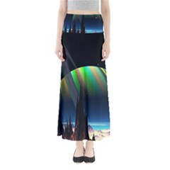 Planets In Space Stars Maxi Skirts