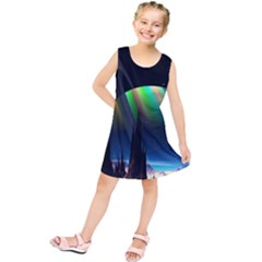 Planets In Space Stars Kids  Tunic Dress