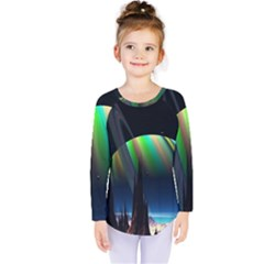 Planets In Space Stars Kids  Long Sleeve Tee