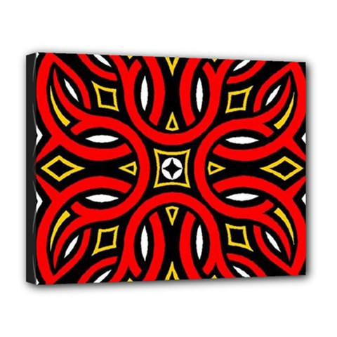 Traditional Art Pattern Canvas 14  X 11