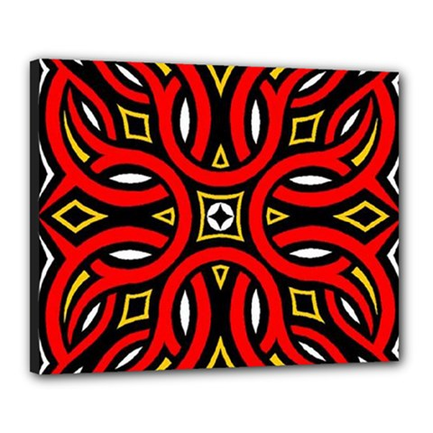 Traditional Art Pattern Canvas 20  X 16