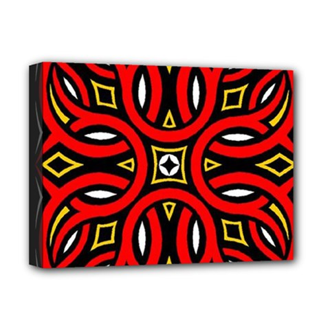 Traditional Art Pattern Deluxe Canvas 16  X 12
