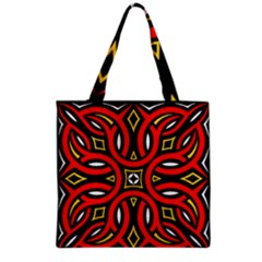 Traditional Art Pattern Grocery Tote Bag