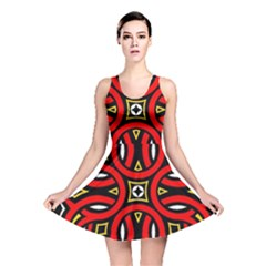 Traditional Art Pattern Reversible Skater Dress