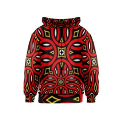 Traditional Art Pattern Kids  Zipper Hoodie
