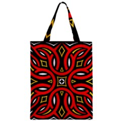 Traditional Art Pattern Zipper Classic Tote Bag