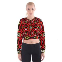 Traditional Art Pattern Women s Cropped Sweatshirt